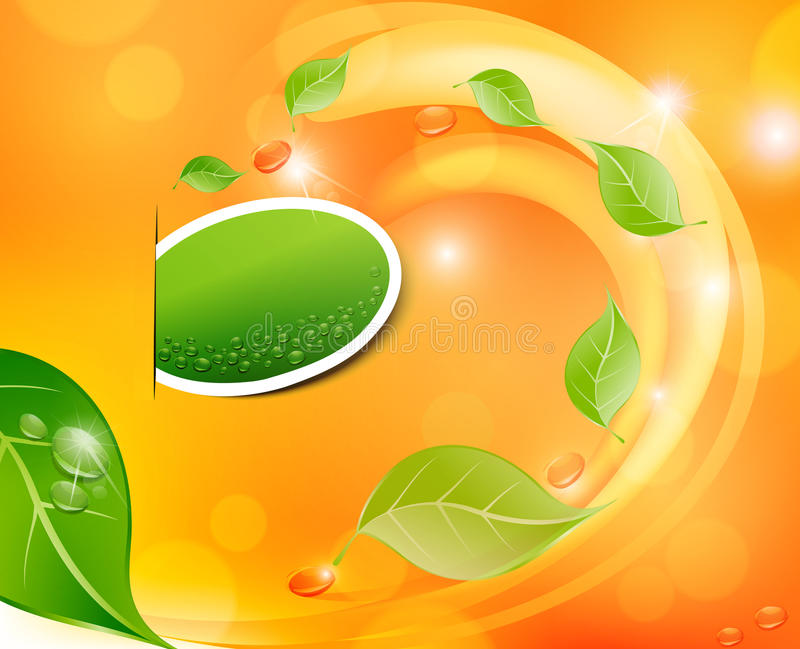 Download Vector Juicy, Fresh Background With Leaves Stock Vector - Image: 19319054