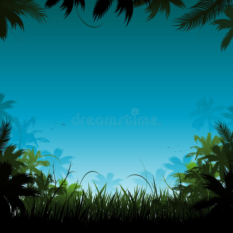 Download Vector jungle background stock vector. Image of foliage - 14408769