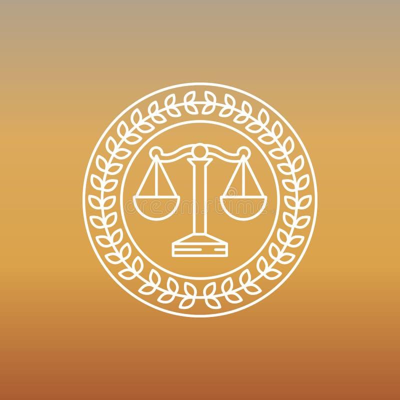 Vector juridisch en wettelijk embleem en teken vector illustratie