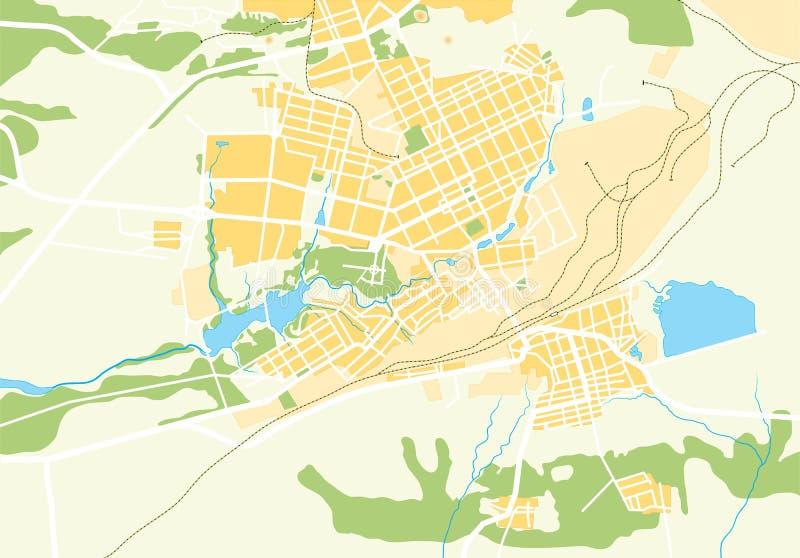 Vector Kaart Geo van de Stad stock illustratie