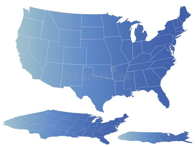 Vector kaart van Amerika stock illustratie