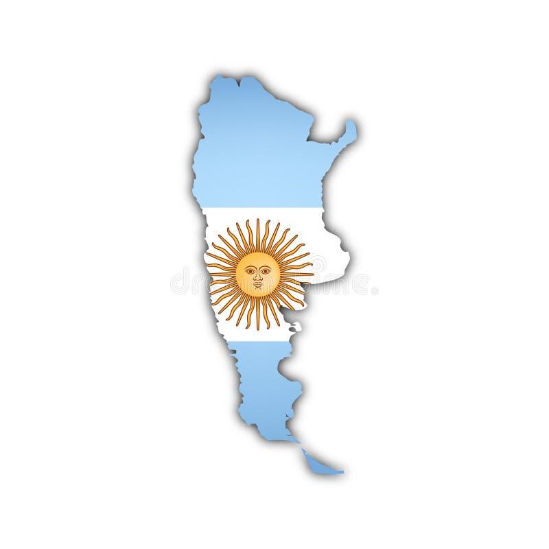 Vector kaart van Argentinië vector illustratie