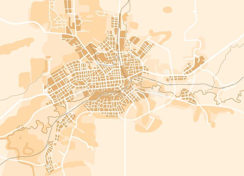 Vector Kaart van de Stad stock illustratie