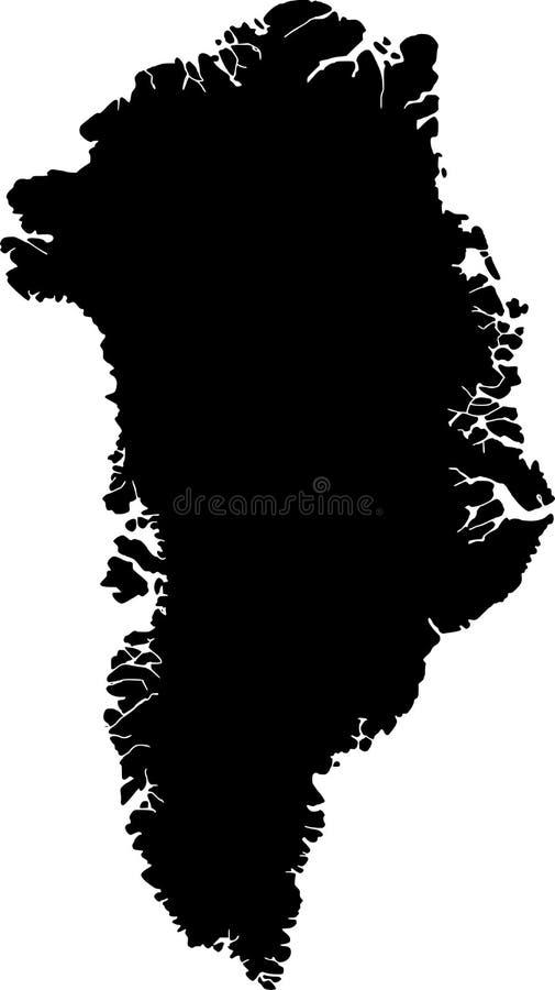 Vector kaart van Groenland vector illustratie