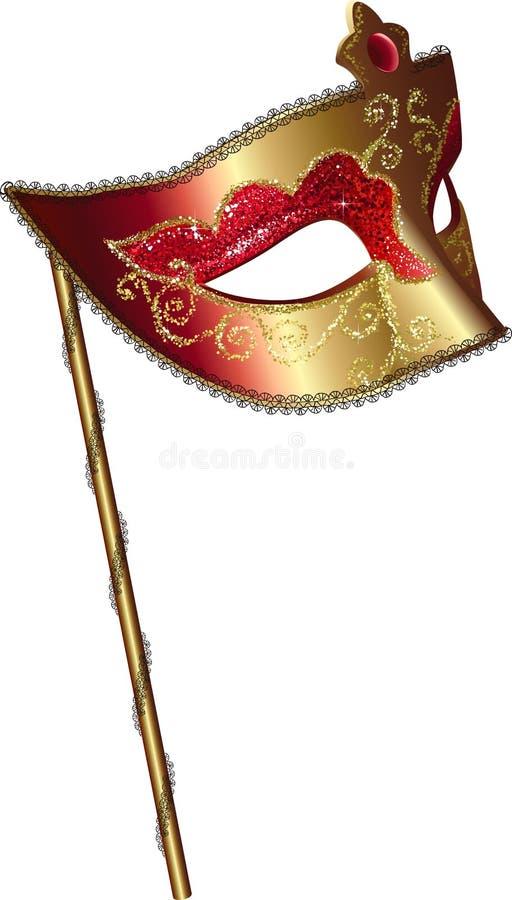 Vector Karnevalsschablone mit Griff stock abbildung
