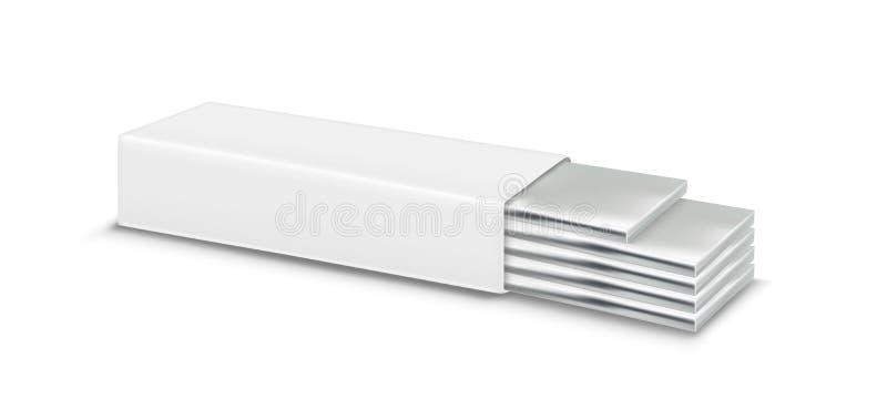 Vector kauwgom en witte verpakking royalty-vrije illustratie