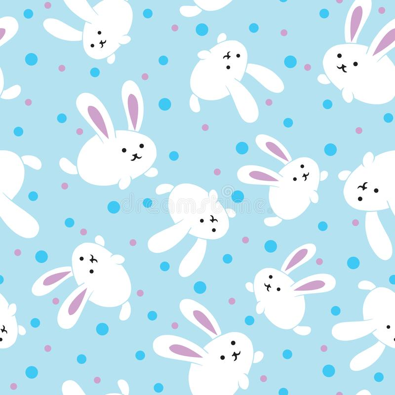 Kawaii Background Cute Bunnies Stock Illustrations 210 Kawaii