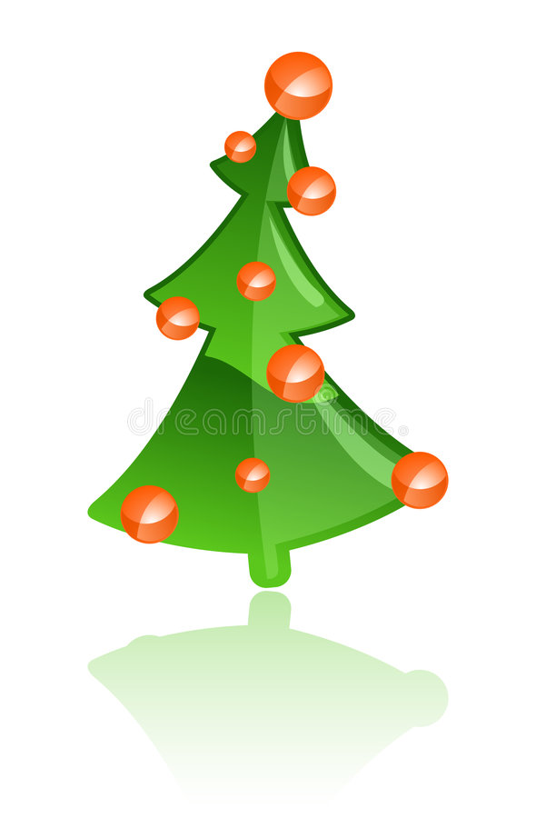 Vector Kerstboom stock illustratie