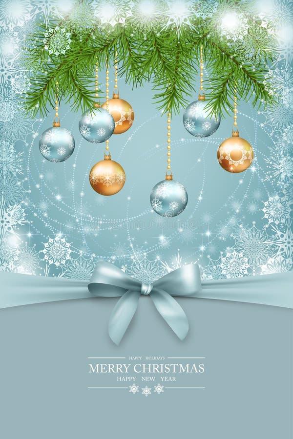 Vector Kerstmis en de nieuwe kaart van de jaargroet