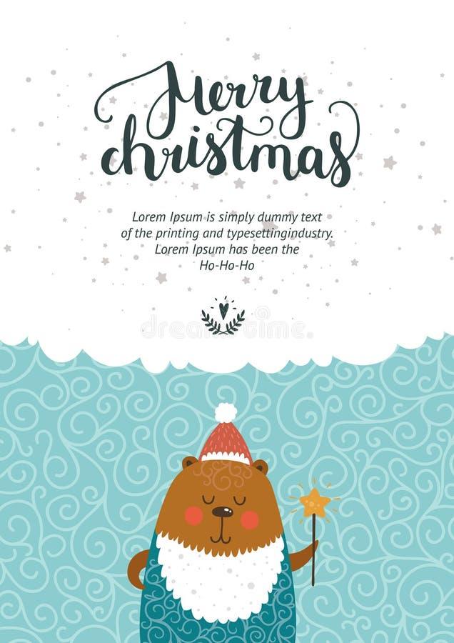 Vector Kerstmis en Nieuwjaarskaart vector illustratie