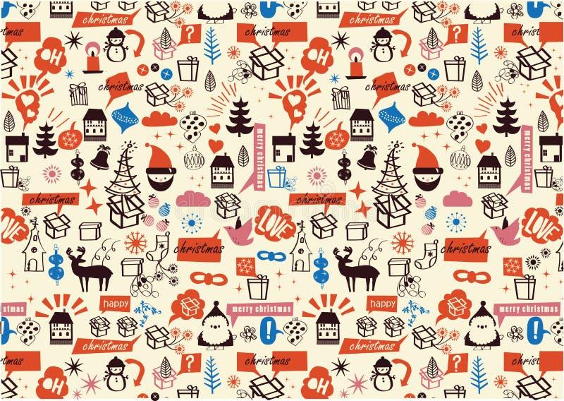 Vector - Kerstmis herhaald patroon stock illustratie