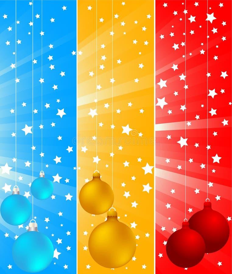 Vector Kerstmisbanners vector illustratie