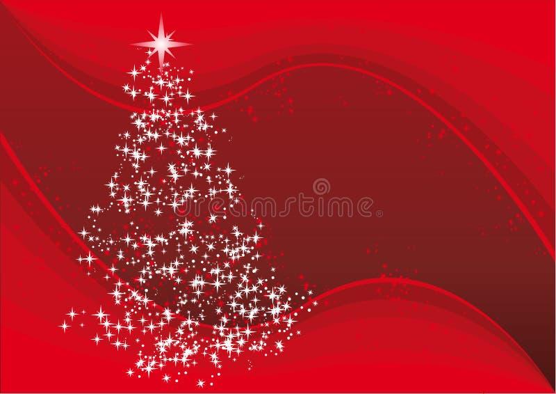 Vector Kerstmisboom royalty-vrije illustratie