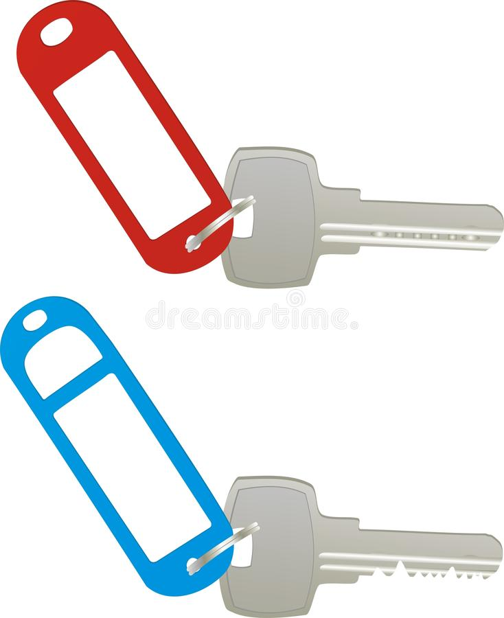 Vector keys. With blank labels stock illustration