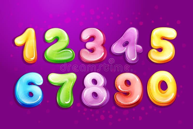 Vector Kid Numbers Bubble Cartoon Type Set Stock Vector - Illustration of color, purple: 110260593