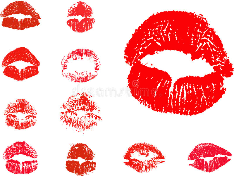 Download Vector kiss icons stock vector. Image of lush, romance - 7789695