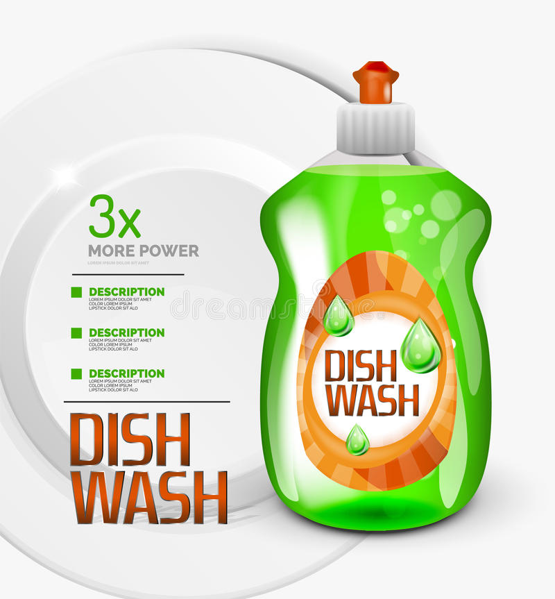 Download Vector Kitchen Dish Wash Ad Product Package Stock Illustration - Image: 83710498