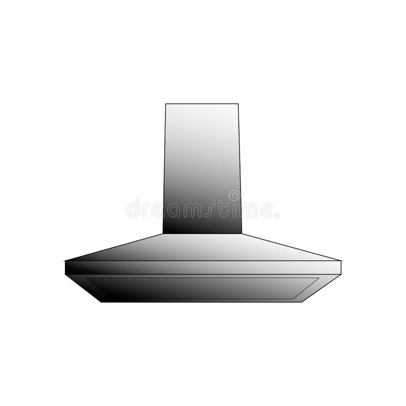 Vector kitchen ventilation illustration on a white background stock illustration