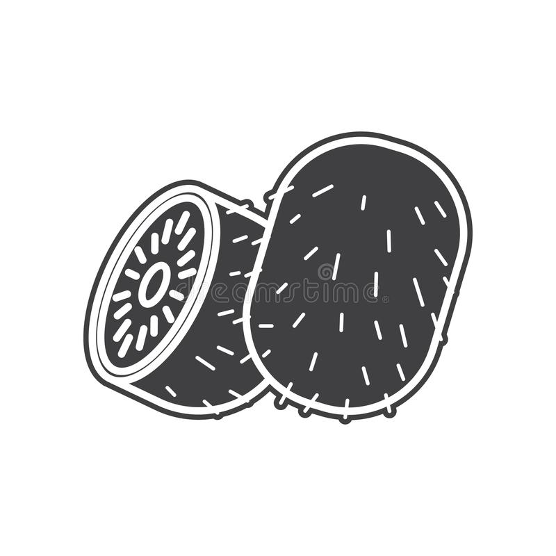 Vector kiwi fruit icon. Element of Fruits and vegatables for mobile concept and web apps icon. Glyph, flat icon for website design royalty free illustration