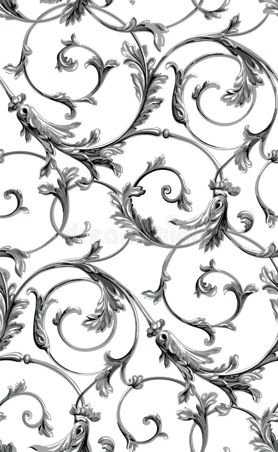 Vector klassieke naadloze patroonachtergrond Klassiek luxe ouderwets klassiek ornament, koninklijke victorian naadloze textuur vo royalty-vrije illustratie