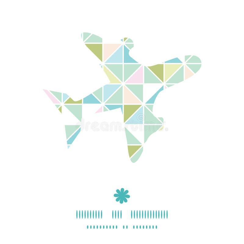 Vector kleurrijk de textuurvliegtuig van de pastelkleurdriehoek vector illustratie