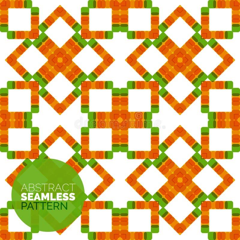 Vector kleurrijk naadloos geometrisch patroon modern stock illustratie