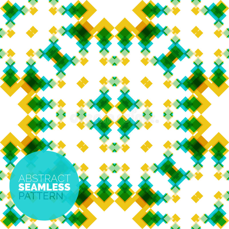 Vector kleurrijk naadloos geometrisch patroon modern royalty-vrije illustratie