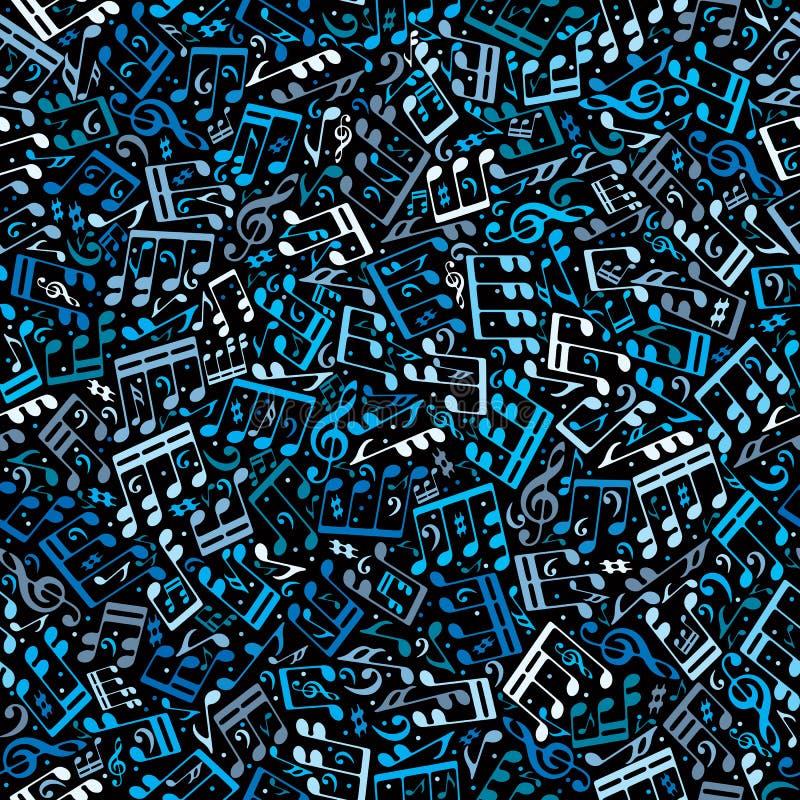 Vector kleurrijk naadloos patroon met muzieknoten en drievoudig c vector illustratie