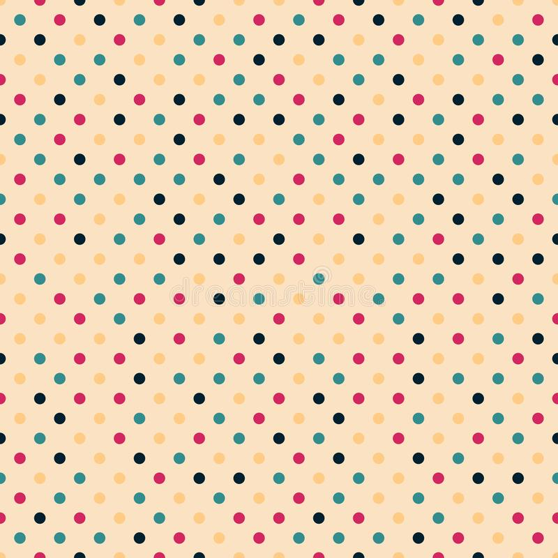 Vector kleurrijk naadloos stippatroon - retro minimalistic ontwerp Abstracte heldere achtergrond royalty-vrije illustratie