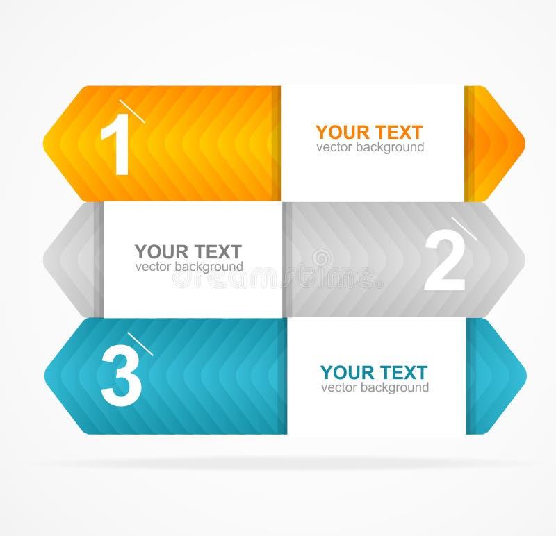 Vector kleurrijk tekstvakje 1.2.3 concept stock illustratie