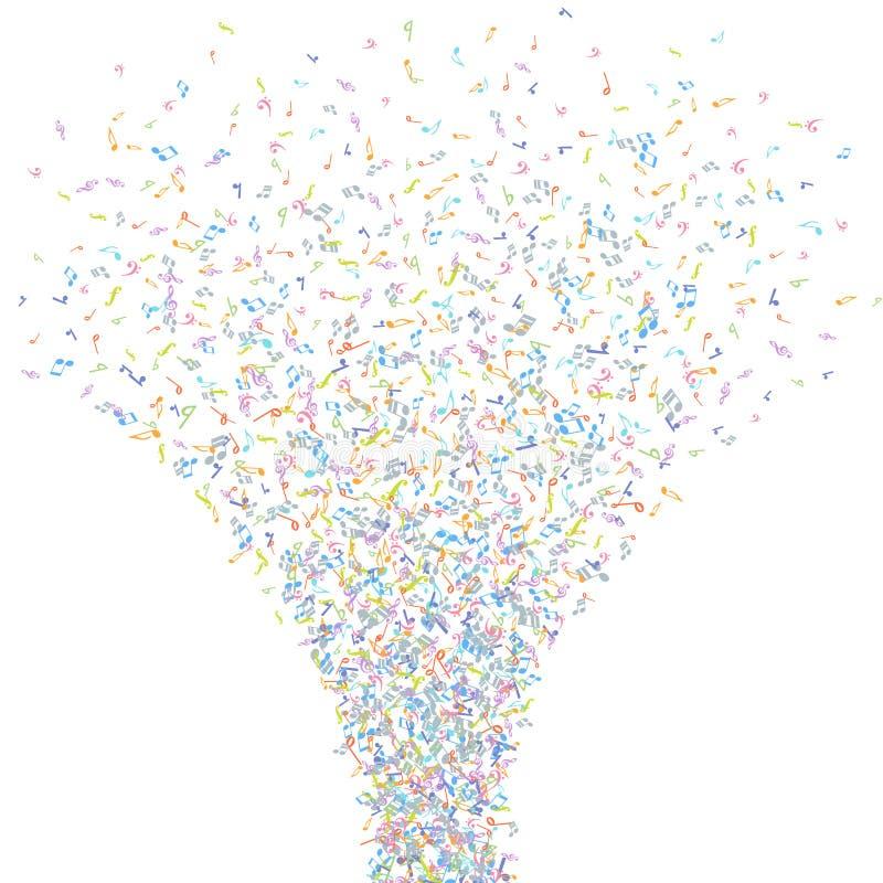 Vector kleurrijk van muziekaantekeningen element als achtergrond in vlakke stijl vector illustratie