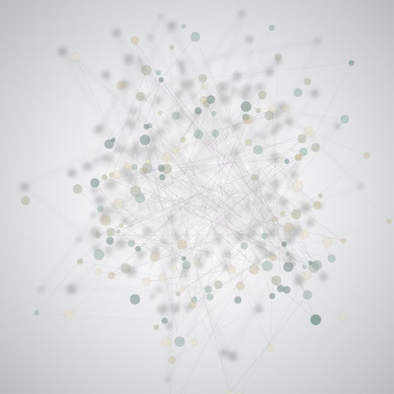 Vector kleurrijke achtergrond met driehoeken, punten royalty-vrije illustratie