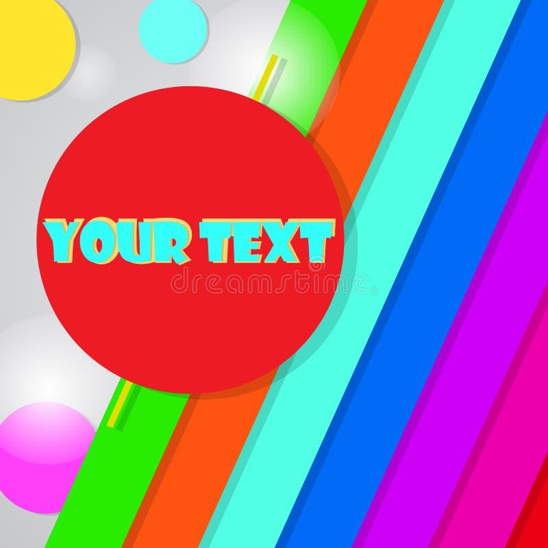 Vector kleurrijke achtergrond met plaats voor uw tekst Vectorillu stock afbeelding