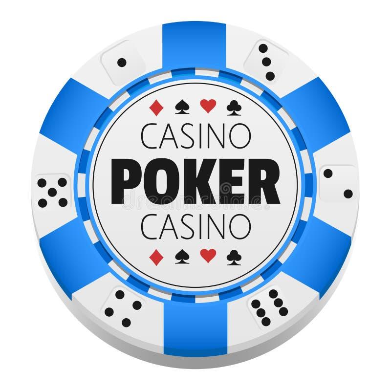 Vector kleurrijke Casinospaander gambling stock illustratie