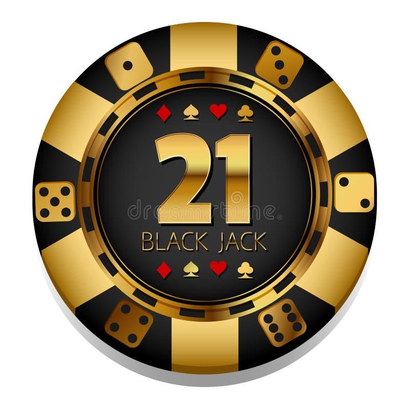 Vector kleurrijke Casinospaander gambling royalty-vrije illustratie