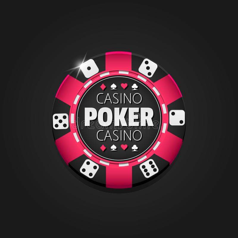 Vector kleurrijke Casinospaander gambling vector illustratie
