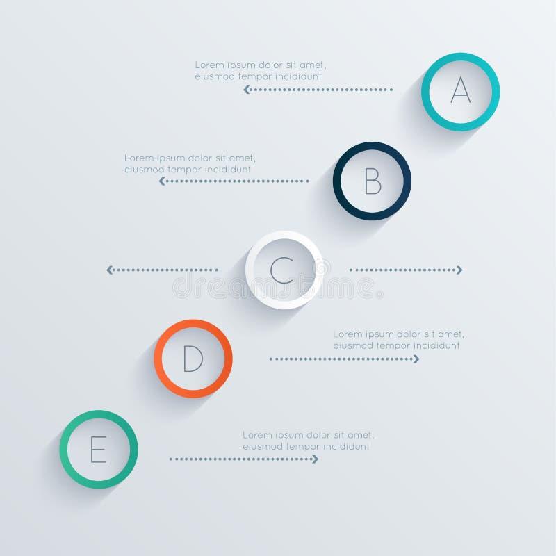 Vector kleurrijke informatiegrafiek voor uw bedrijfspresentaties royalty-vrije illustratie