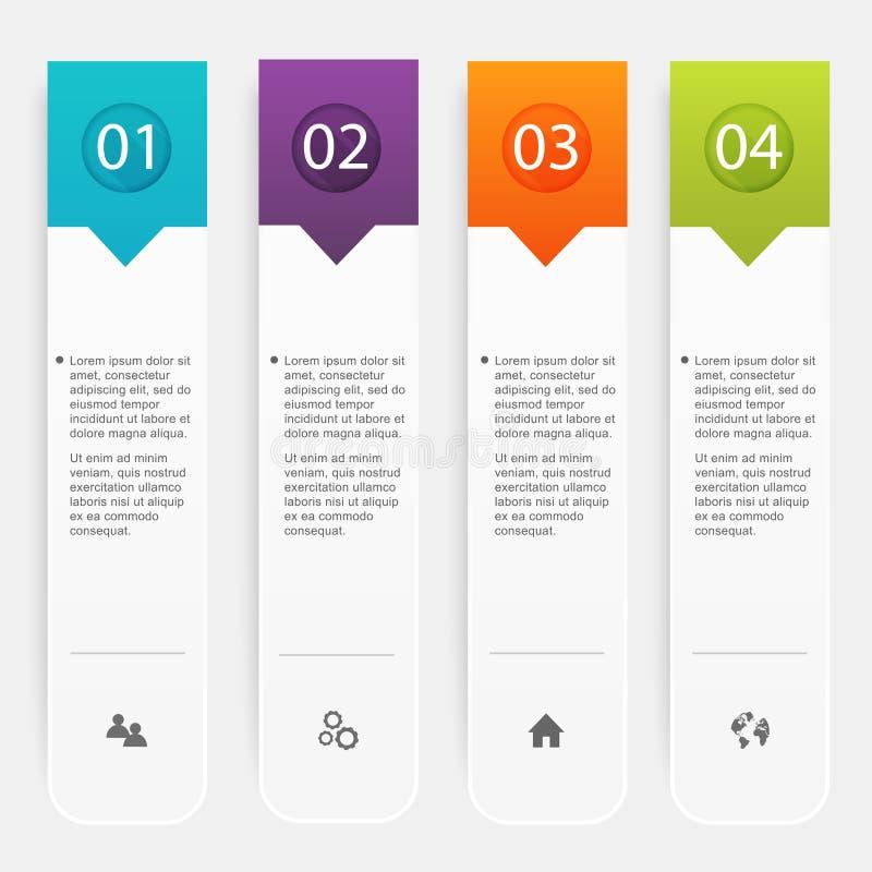 Vector kleurrijke informatiegrafiek voor uw bedrijfspresentaties stock illustratie