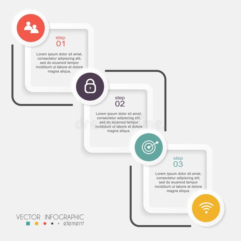 Vector kleurrijke informatiegrafiek voor uw bedrijfspresentaties vector illustratie