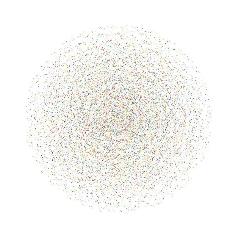 Vector kleurrijke punten in cirkelvorm Abstracte radiale vorm royalty-vrije illustratie