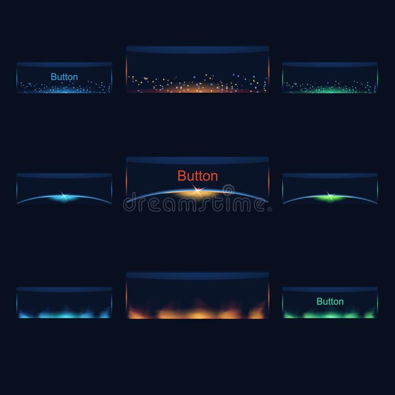 Vector Kleurrijke RuimteKnopen stock illustratie