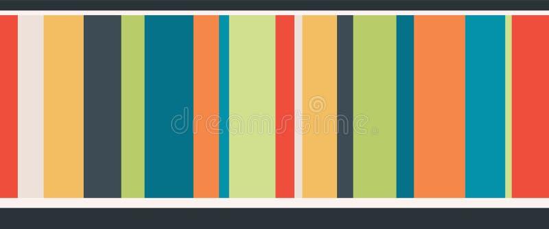 Vector Kleurrijke Strepen Naadloze Grens royalty-vrije illustratie