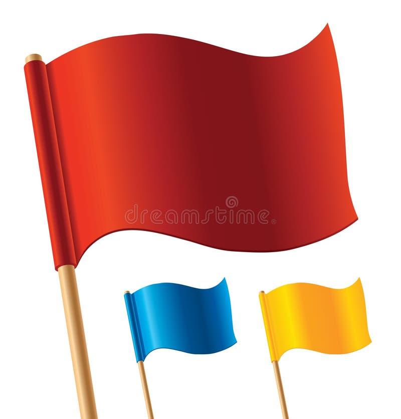 Vector kleurrijke vlaggen royalty-vrije illustratie