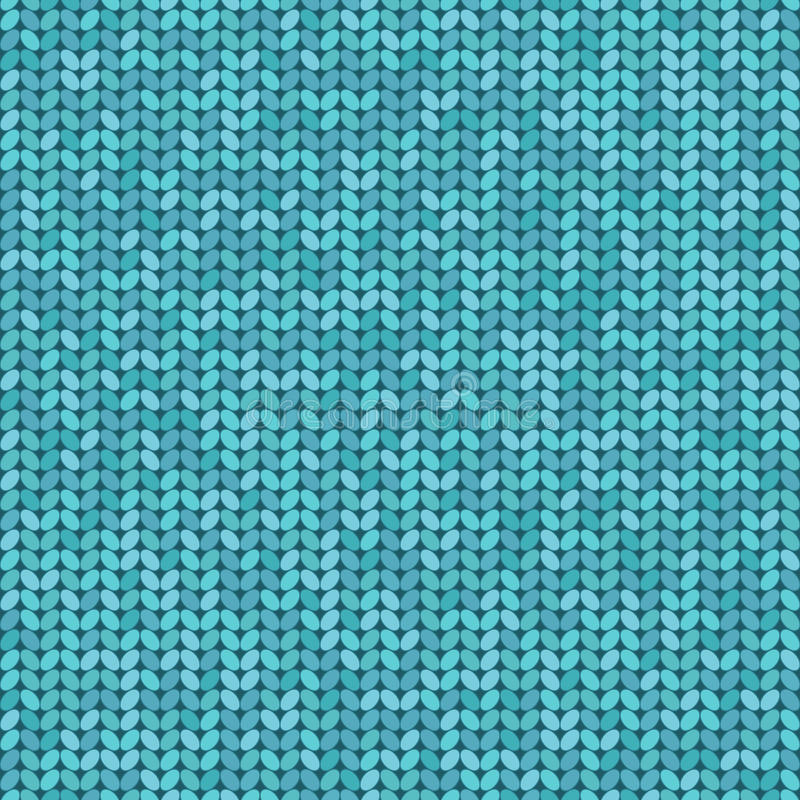 Vector knitted seamless pattern, knitting craft background vector illustration