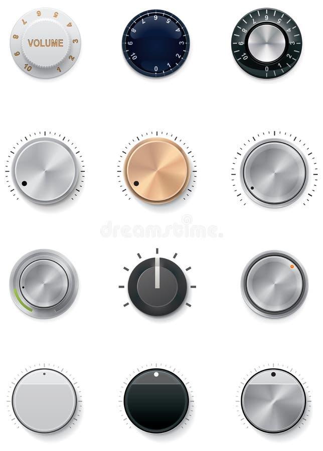 Download Vector knobs set stock vector. Image of measurement, modern - 23459279