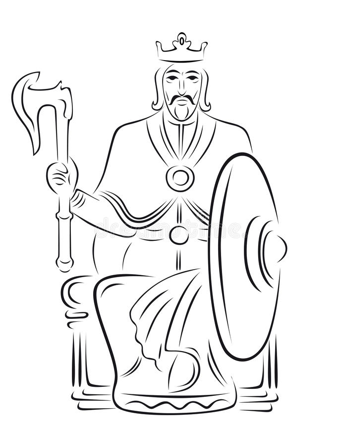 Vector koning royalty-vrije illustratie