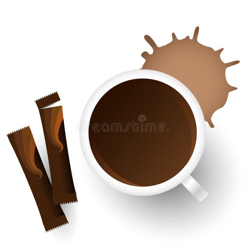 Download Vector kop van koffie vector illustratie. Illustratie bestaande uit licht - 10776007