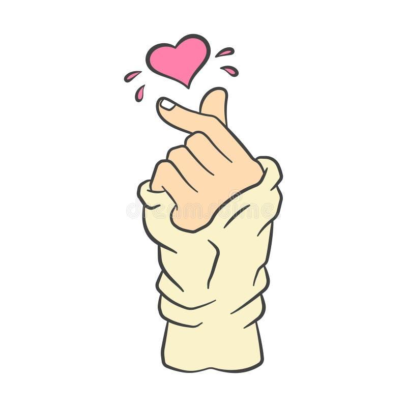 Free Vector Korean Heart Hand Gesture Symbol Stock Photography - 123724662