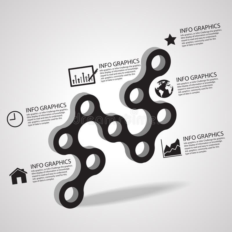 Vector Kreisgeschäfts-Konzeptverbindung mit Ikonen, Illustration ENV 10 stock abbildung