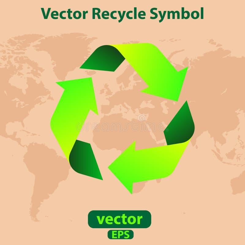 Vector kringloopsymbool royalty-vrije stock foto's